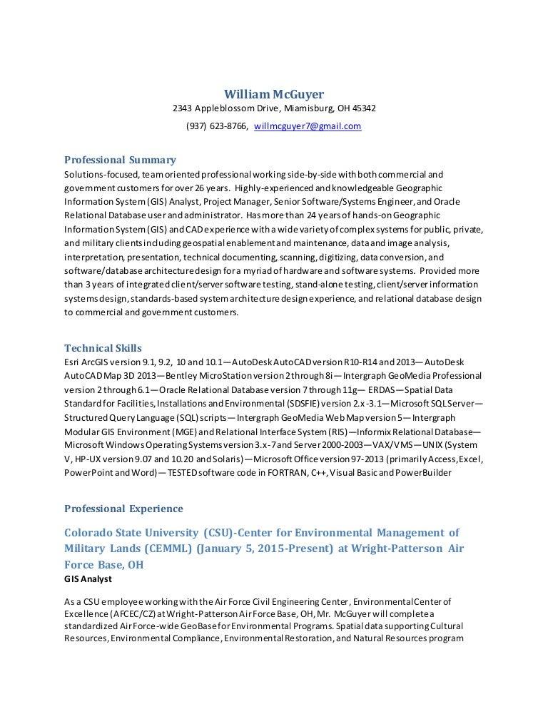 gis technician resume gis technician resume samples visualcv