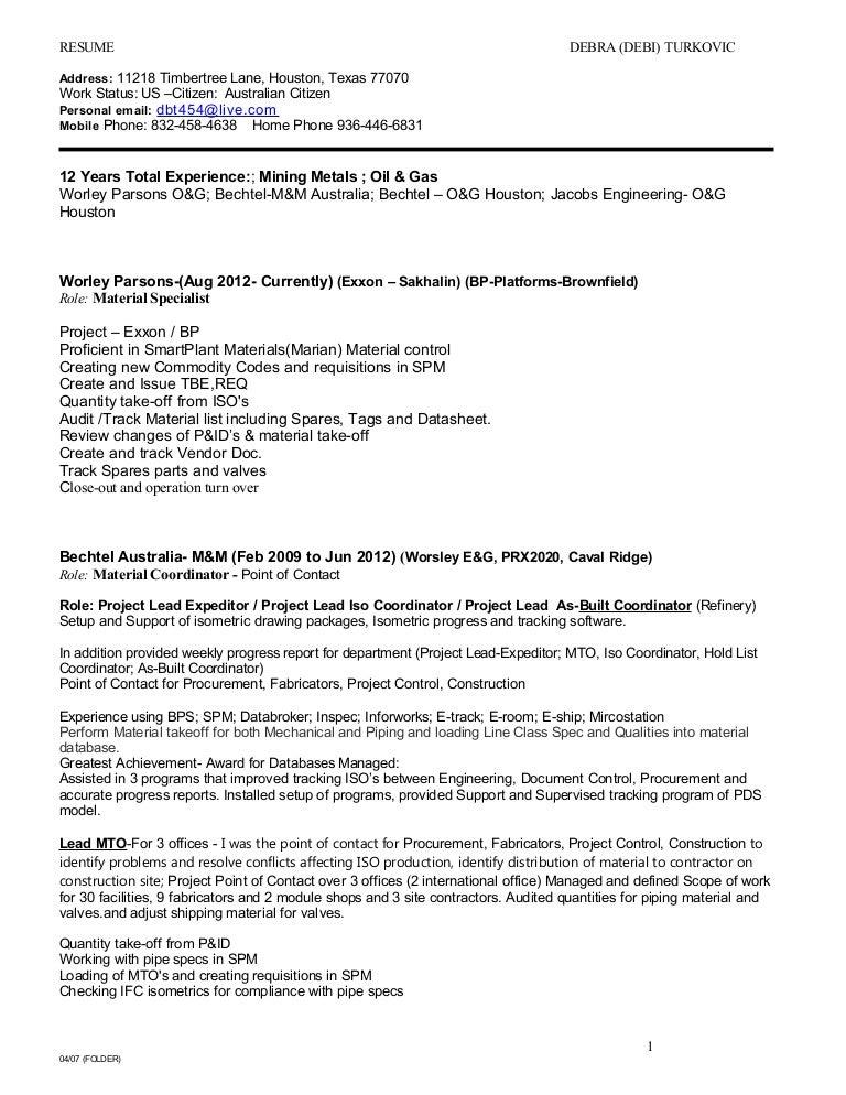 debra turkovic resume may2015
