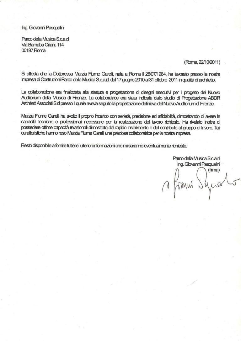 Imprese Di Costruzioni Roma lettera sac copy