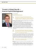 Trends in Global Payroll - Global Payroll Magazine 01-2016