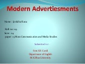 Paper 15 Mass Communication and Media Studies..WHAT IS MODERN ADVERTISING