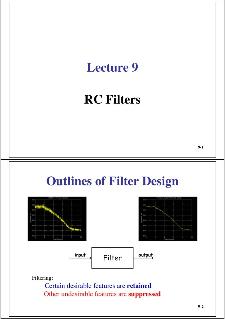09 Rc Filters Bandpass Filter Band Reject A Circuit Is