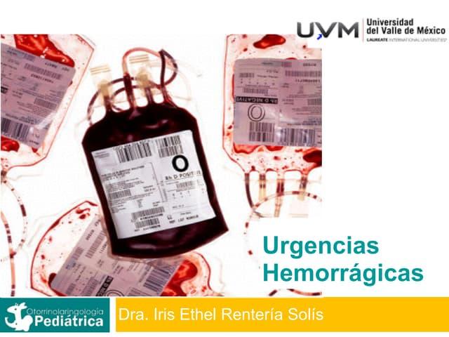 Emergencias Médicas Básicas Sesión 09 Urgencias Hemorragicas
