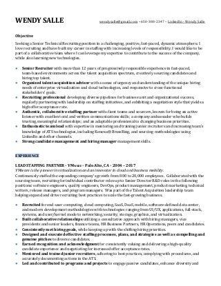 non it recruiter resume