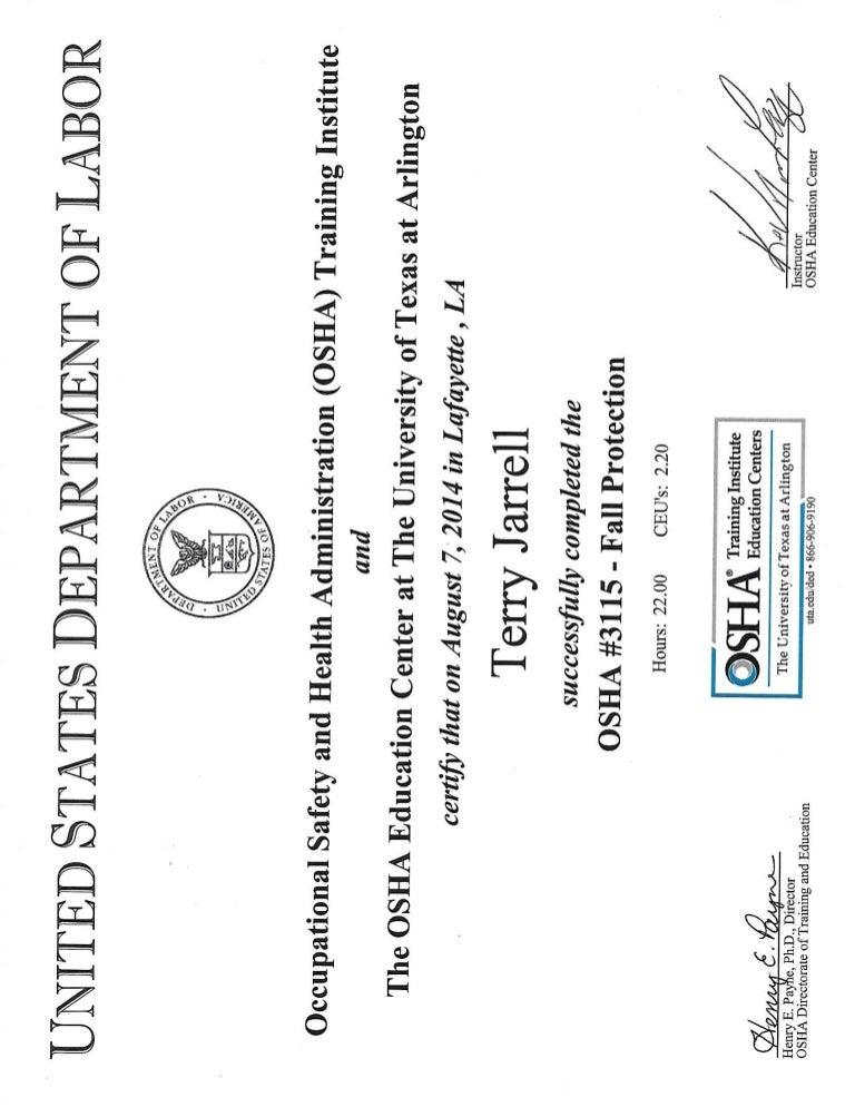 OSHA 3115 Fall protection