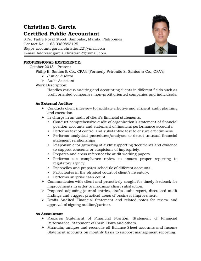Resume Sample Resume For Accountants In The Philippines Sample Resume  Accountant Philippines Frizzigame For Accountants In  Sample Resume For Accountant