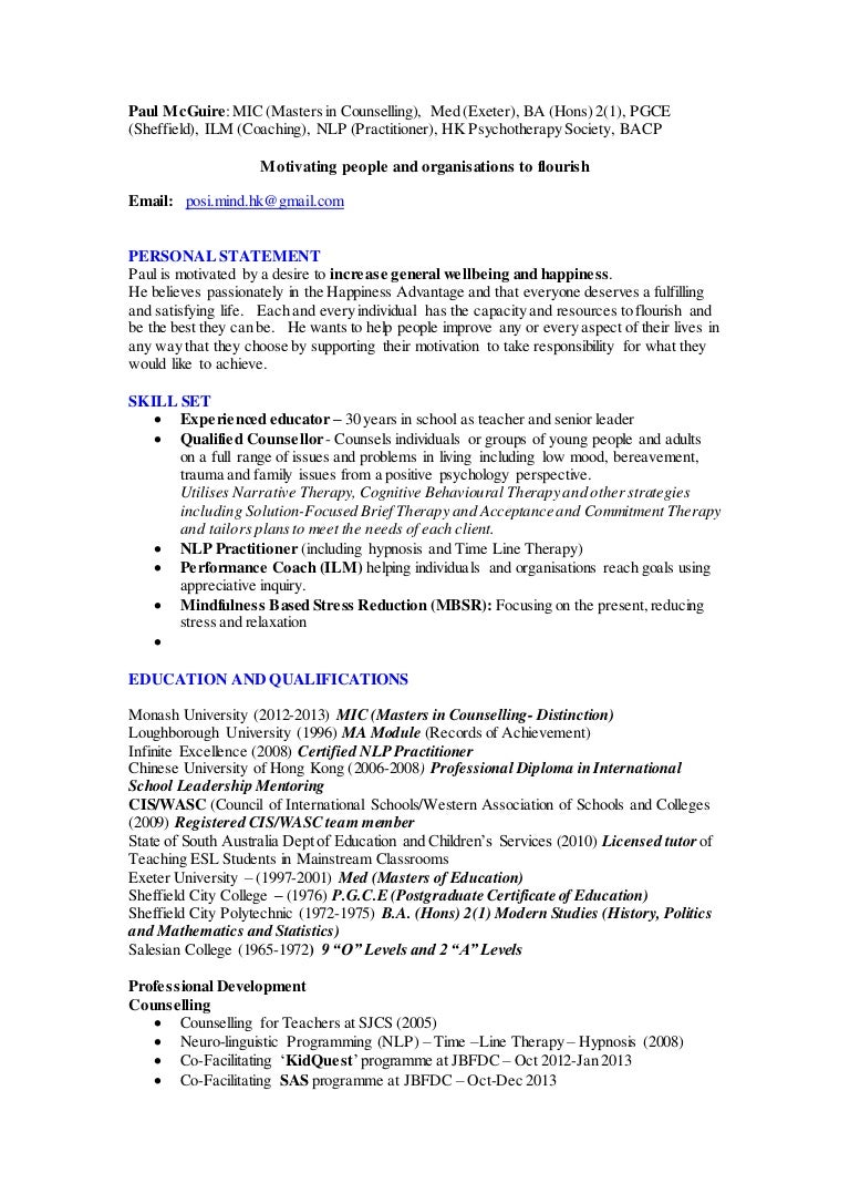 counselling cv 1 1