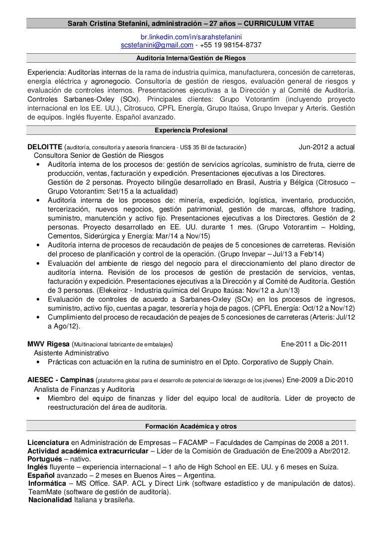 CV Sarah Stefanini - Español