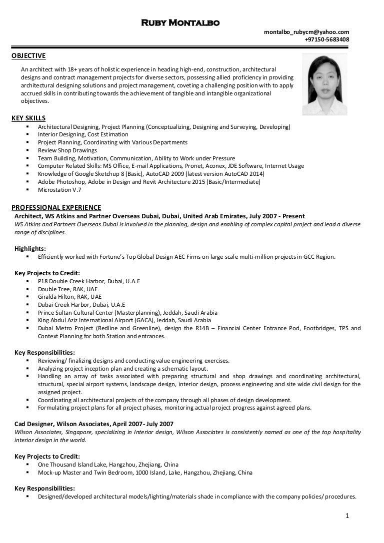 Interior Design Resume Objective Examples Designer