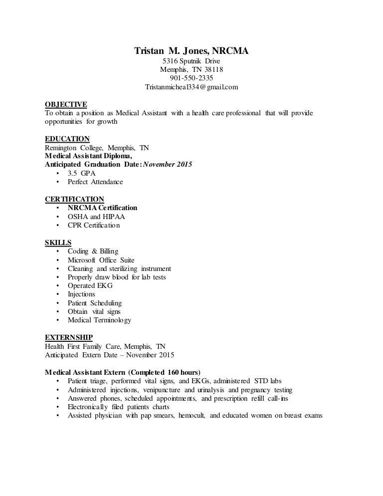 Tnes Ma Medical Assistant Resume