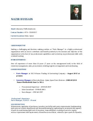 spare parts salesman resume parts manager resume - Parts Manager Resume