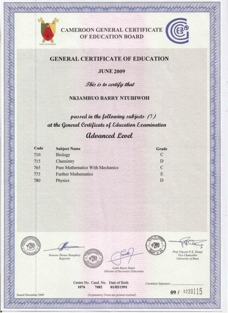 certificate gce level slideshare upcoming