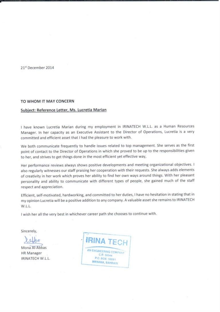 Letter of recommendation for hr manager leoncapers letter spiritdancerdesigns Images