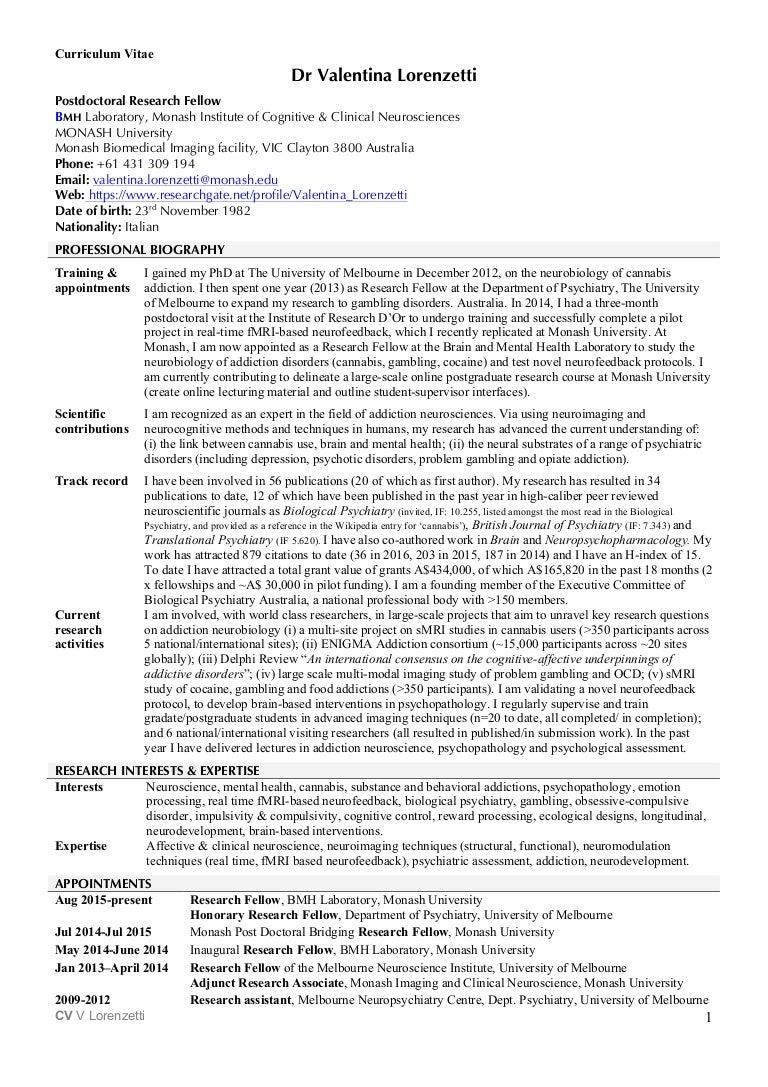 Unique Monash Resume Example Adornment - Resume Template Samples ...