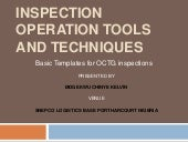 INSPECTION OPERATIONS TOOLS AND TECHNIQUES for Mr Briggs