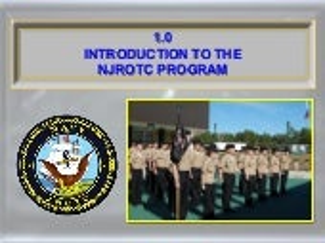 1.0 Introduction to the NJROTC Program