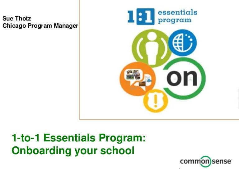 Common Sense Media 1-to-1 Essentials Program: Onboarding