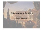 1 - Architetture Software - Software as a product
