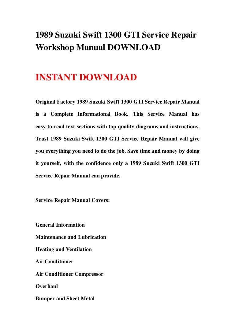 Air Conditioner Schematic Wiring Diagram Swift Gti Content 1983 C10 Conditioning Compressor 1989 Suzuki 1300 Service Repair Workshop Manual Rh Slideshare Net Outside Ac Unit
