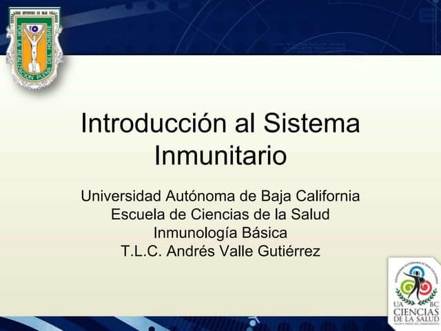 1.  Introducción al Sistema Inmunitario
