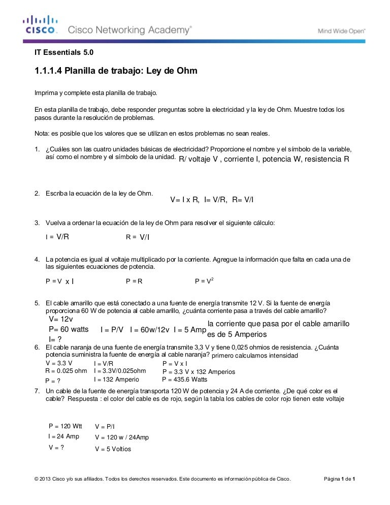 Worksheets Ohms Law Worksheet 1 4 worksheet ohms law