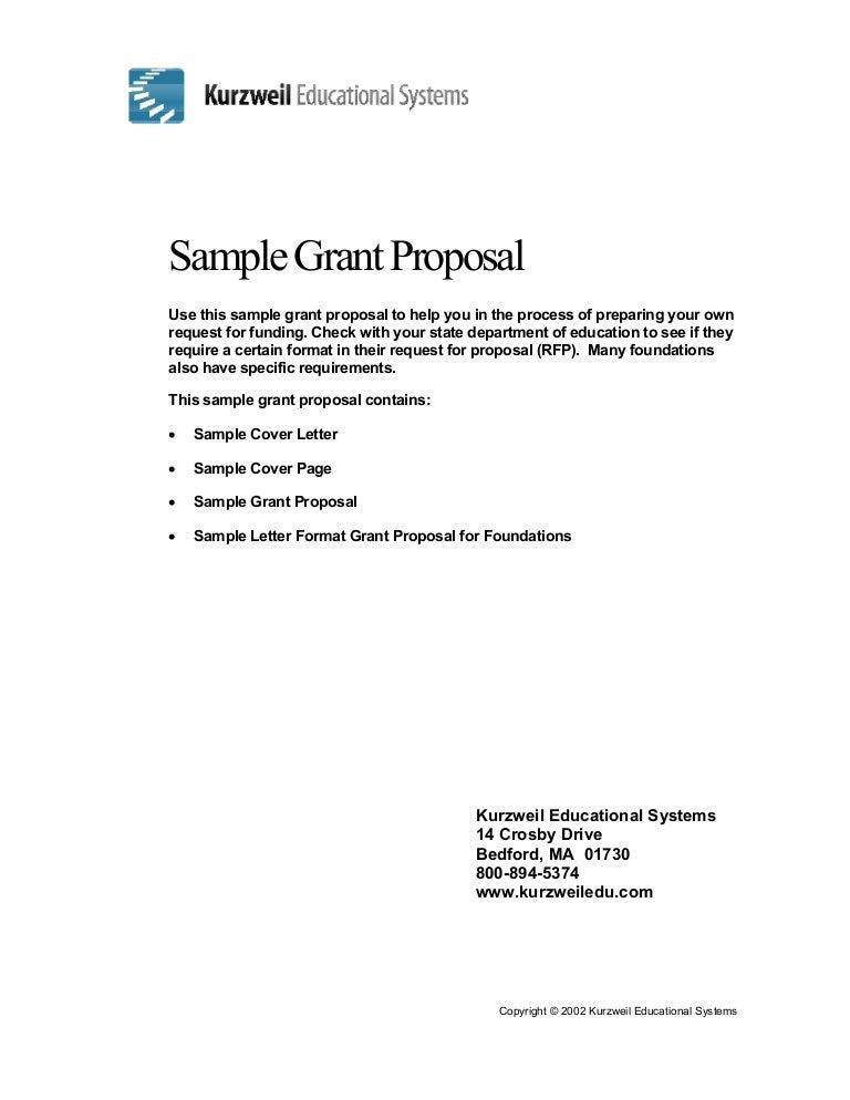 1 – Grant Proposal Letter