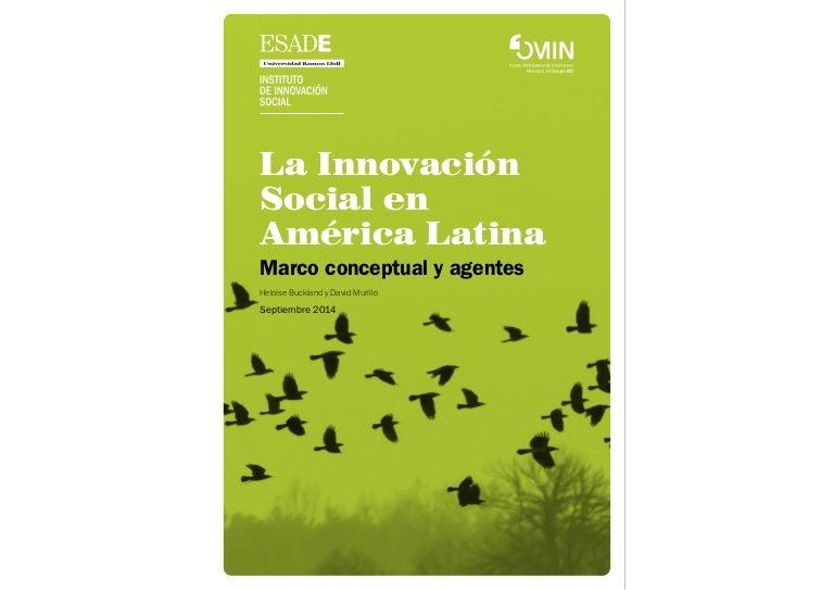 INFORME: La Innovación Social en América Latina. Marco conceptual y a…