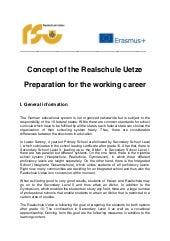 1.3.3 Preparation for the working career