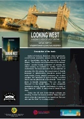 """""""Looking west. A kazakh's view of Great Britain"""" flyer"""