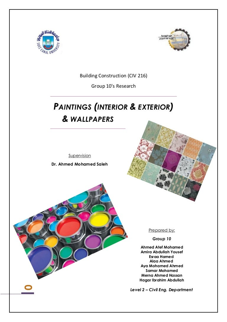 Paintings (Exterior & Interior) and wall papers