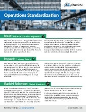 Operations Standardization its Impact and Issues Solved with RackN