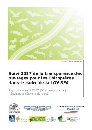 Suivi Transparence Chiroptères  - 2017 - PCN