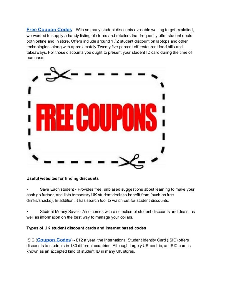 Free Coupon Codes