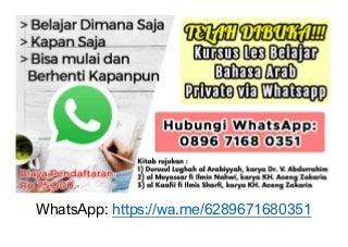 0896-7168-0351 Belajar Tentang Bahasa Arab via WhatsApp