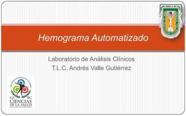 1.5.  Hemograma Automatizado