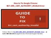 Steps to Fix Google Chrome NET::ERR_CERT_AUTHORITY_INVALID Error