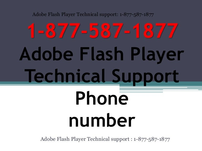 1-888-828-5947 Adobe Flash Player Technical Support Phone Number