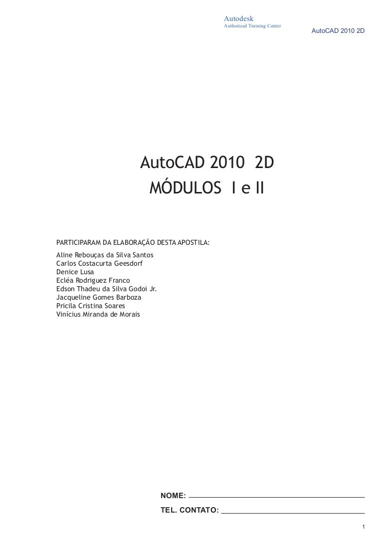 AUTOCAD 2010 TRAINING MANUAL EBOOK DOWNLOAD