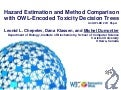 Hazard Estimation and Method Comparison with OWL-Encoded Toxicity Decision Trees