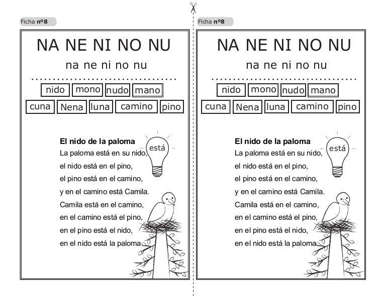 Lectura Na Ne Ni No Nu