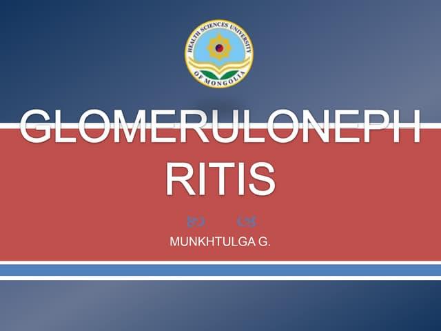 Glomerulonephritis /HSUM/