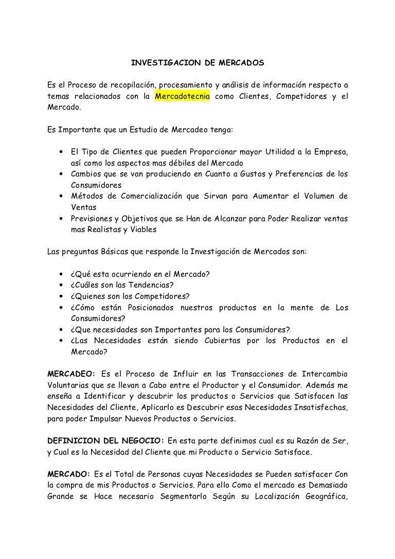 ensayo de estudio de mercado pdf