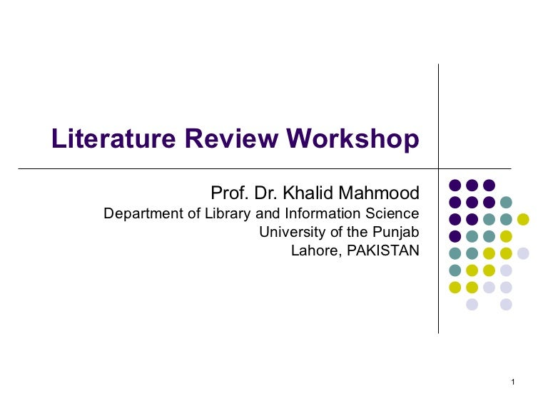 How to Conduct a Literature Review Why review the literature