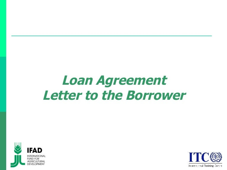 Loan Agreement: Letter to the Borrower
