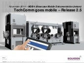 Showcase: Mobile Dokumentation - TechComm goes mobile