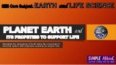 Planet Earth and its properties necessary to support life