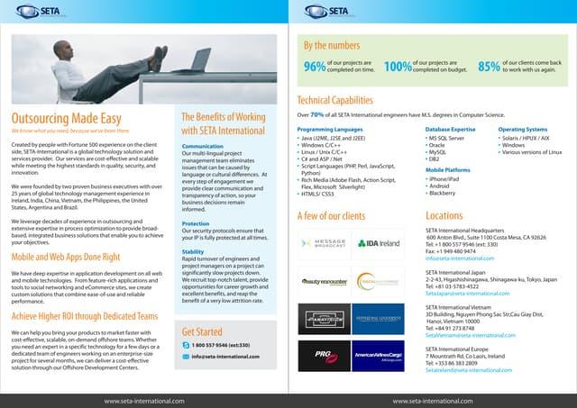 Seta International Datasheet