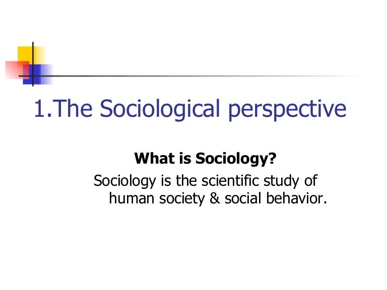 essay on the sociological perspective Sociological theories of unemployment: sociological perspective essay sociological perspectives on unemployment their studies include human behavior in many social contexts such as social interaction, social institutions and organization, social change and development (abraham.
