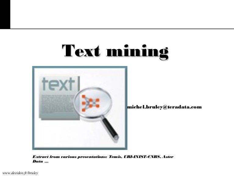 what is text and data mining