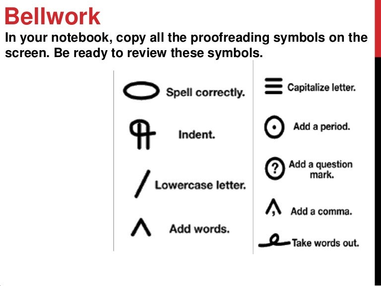 10 05 2012 The Writing Process Revising Proofreading